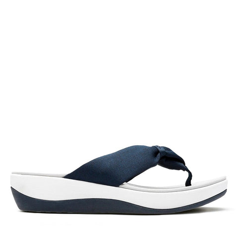 CLARK LADIES ARLA GILSON BLUE FABRIC SANDAL