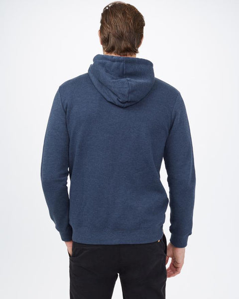 TEN TREE MENS JUNIPER CLASSIC ZIP DRESS BLUE HEATHER HOODIE