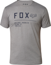FOX MENS NON STOP PREMIUM SS HEATHER GRAPHITE TSHIRT