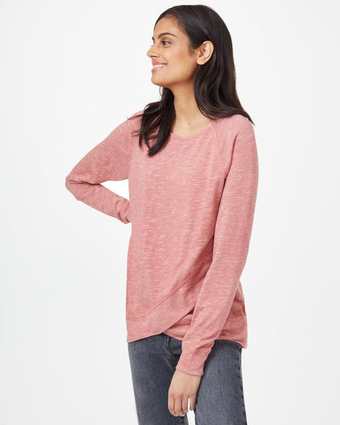 TEN TREE LADIES ACRE WITHERED ROSE MARLED LONGSLEEVE SHIRT