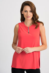 JOSEPH RIBKOFF LADIES PAPAYA SLEEVELESS TOP