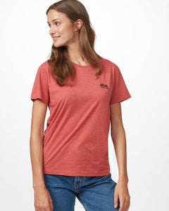 TEN TREE LADIES TENTREE MINERAL RED HEATHER TSHIRT