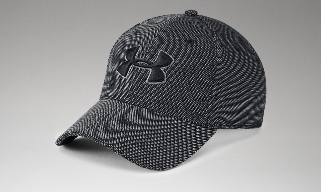UNDER ARMOUR MENS HEATHER BLITZING 3.0 BLACK HAT
