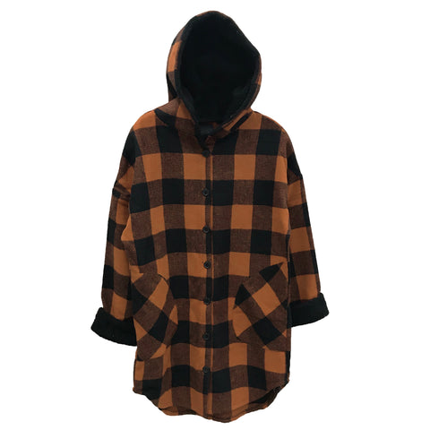 RD INTERNATIONAL LADIES WOVEN COPPER HOODED JACKET