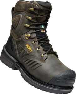 "KEEN MENS CSA PHILADELPHIA+ 8"" INT. MET WP CASCADE BROWN/BLACK BOOT"