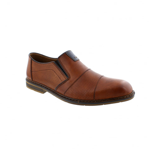 RIEKER MENS B1765-25 BROWN DRESS SHOE