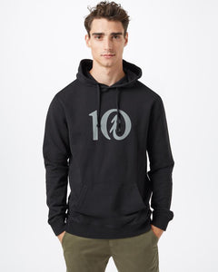 TEN TREE MENS TEN CLASSIC METEORITE BLACK HOODIE