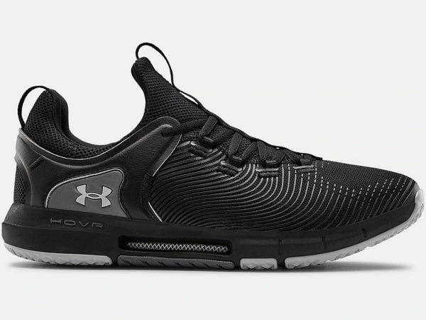 UNDER ARMOUR MENS HOVR RISE 2 BLACK TRAINING SHOE