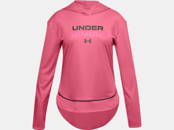 UNDER ARMOUR YOUTH TECH GRAPHIC PINK LEMONADE HOODIE