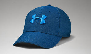UNDER ARMOUR MENS HEATHER BLITZING GRAPHITE BLUE HAT