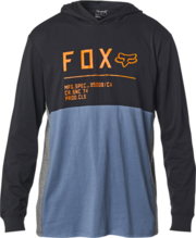 FOX MENS NON STOP HOODED LS KNIT BLUE TSHIRT