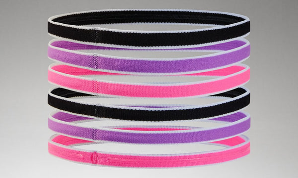 UNDER ARMOUR GIRLS 6PK MINI BLACK HEADBANDS