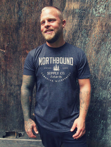 NORTHBOUND SUPPLY CO MENS CANADIAN WILDERNESS CHARCOAL TSHIRT