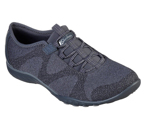SKECHERS LADIES BREATHE-EASY CHARCOAL SHOE