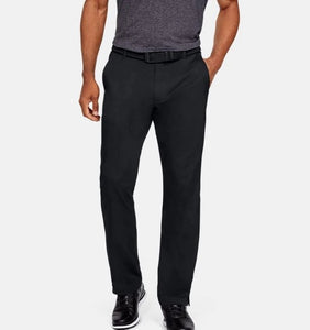 UNDER ARMOUR MENS SHOWDOWN STRAIGHT LEG BLACK GOLF PANT
