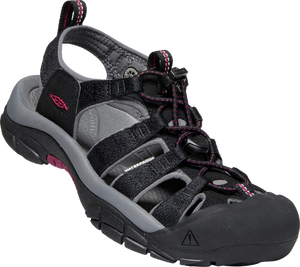KEEN LADIES NEWPORT H2 BLACK/RASPBERRY WINE SANDAL