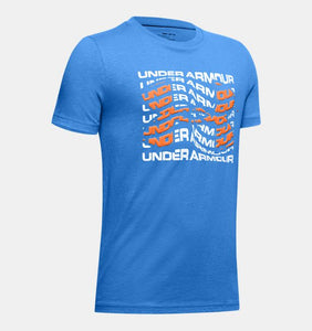 UNDER ARMOUR YOUTH WARPED BIG LOGO WATER TSHIRT