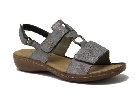 RIEKER LADIES 60887-40 GREY SANDAL
