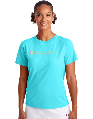 CHAMPION LADIES CLASSIC BLUE HORIZON TSHIRT