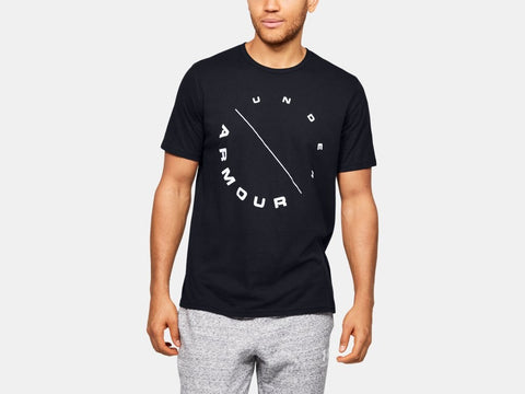 UNDER ARMOUR MENS ECLIPSE CIRCLE BLACK TSHIRT