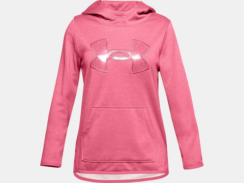 UNDER ARMOUR YOUTH BIG LOGO PINK LEMONADE HOODIE