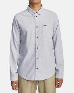 RVCA MENS THAT'LL DO STRETCH PAVEMENT LS SHIRT