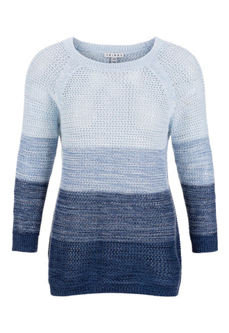 TRIBAL LADIES INK OMBRE SWEATER