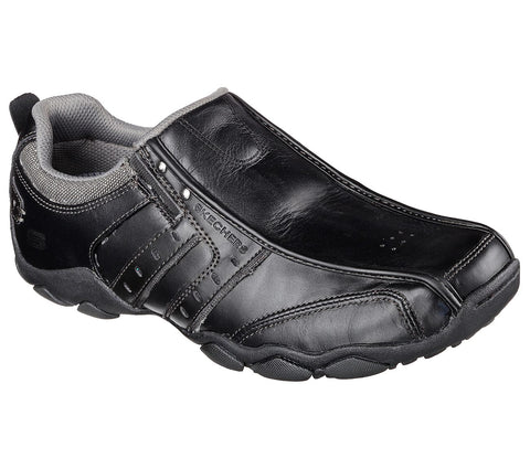 SKECHERS MENS DIAMETER BLACK SHOE