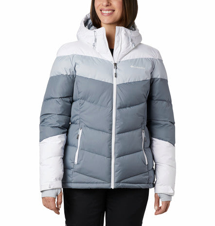COLUMBIA LADIES ABBOTT PEAK INSULATED GREY AS WINTER JACKET
