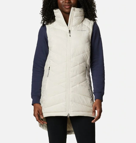COLUMBIA LADIES HEAVENLY LONG CHALK VEST