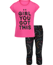 UNDER ARMOUR TODDLER GIRLS YOU GOT THIS PINK SURGE SET