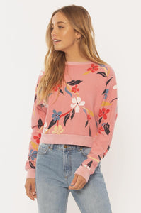 SISSTREVOLUTION LADIES PETAL ALONG DESERT ROSE SWEATER
