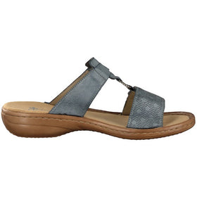 RIEKER LADIES 60885-12 BLUE SANDAL
