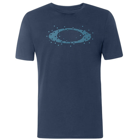 OAKLEY MENS ELLIPSE DOT FOGGY BLUE TSHIRT