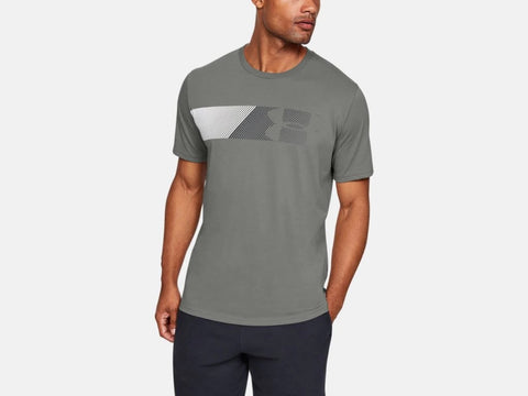 UNDER ARMOUR MENS FAST LEFT CHEST 2.0 GRAVITY GREEN TSHIRT