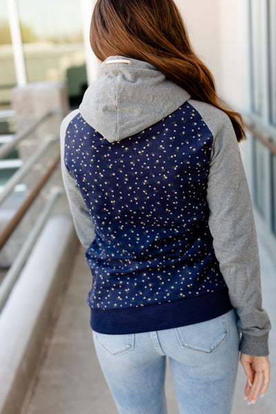 AMPERSAND AVE LADIES BEAUTIFUL CHAOS BLUE SINGLEHOOD HOODIE