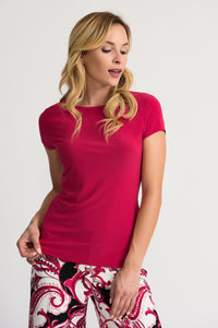 JOSEPH RIBKOFF LADIES CERISE SS TOP