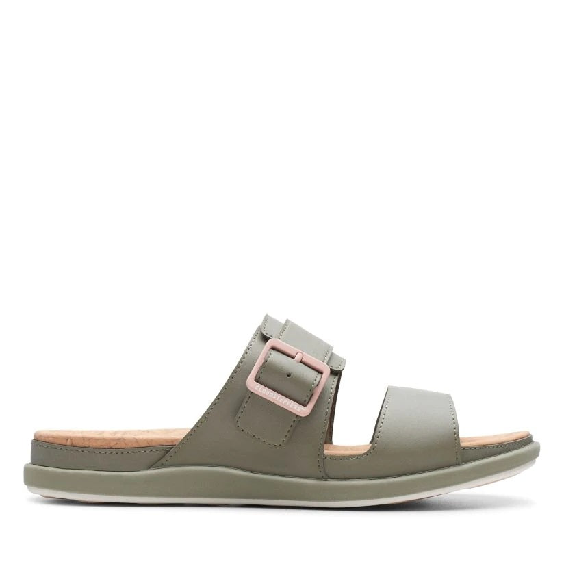 CLARKS LADIES STEP JUNE TIDE DUSTY OLIVE