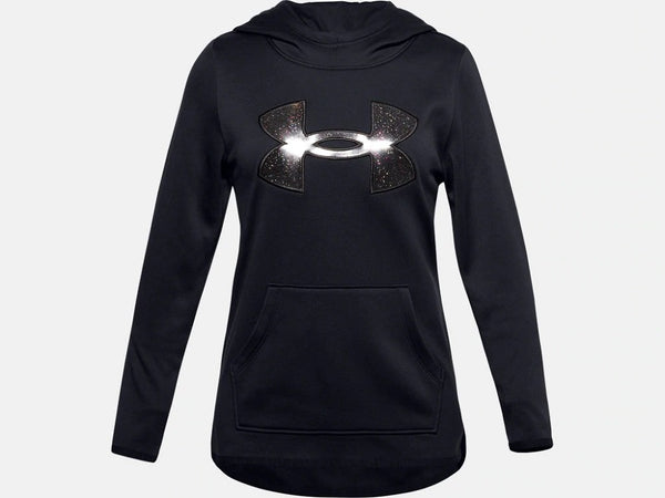 UNDER ARMOUR YOUTH BIG LOGO BLACK HOODIE