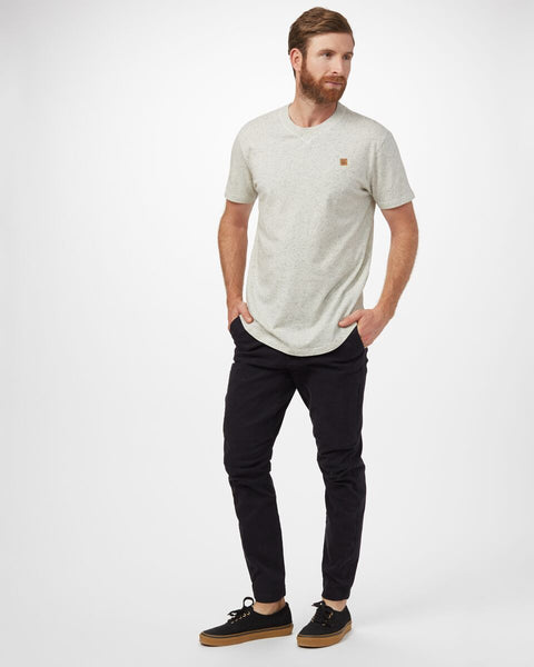 TEN TREE MENS COOPER ELM WHITE SNOW FLECK TSHIRT