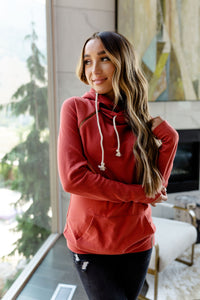 AMPERSAND AVE LADIES BASIC RUBY DOUBLEHOOD HOODIE