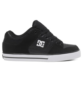 DC MENS PURE  BLACK/BLACK/WHITE SHOE