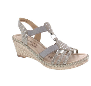 REMONTE LADIES D6768-65 GREY SANDAL