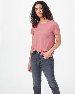 TEN TREE LADIES TREEBLEND CLASSIC WITHERED ROSE HEATHER TSHIRT