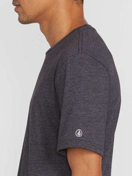 VOLCOM MENS HEATHER SOLID HEATHER BLACK TSHIRT