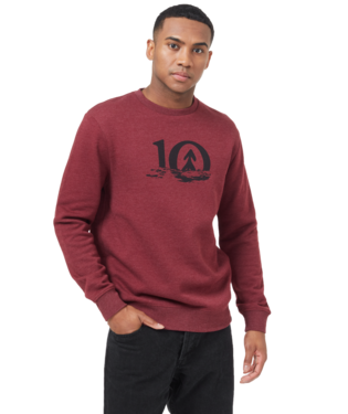 TEN TREE MENS LS REFLECT TEN BURGUNDY RED HEATHER CREWNECK SWEATER