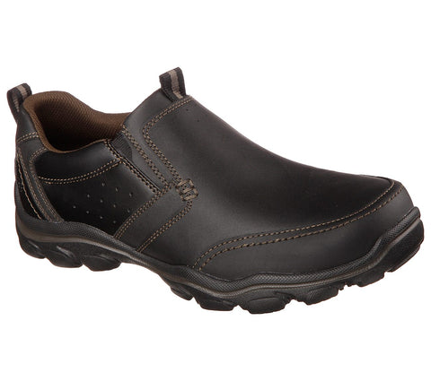 SKECHERS MENS MONTZ DEVENT BLACK CASUAL SHOE