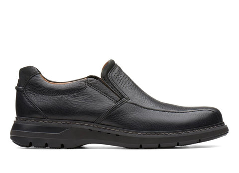 CLARK MENS UNRAMBLE STEP BLACK DRESS SHOE
