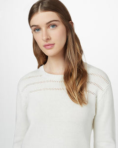 TEN TREE LADIES FOREVER AFTER ELM WHITE HEATHER SWEATER