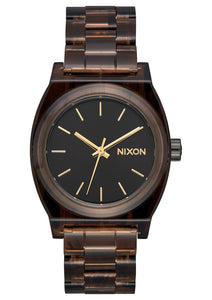 NIXON MEDIUM TIME TELLER  ACETATE BROWN WATCH